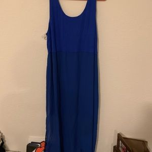 NWT blue maxi dress